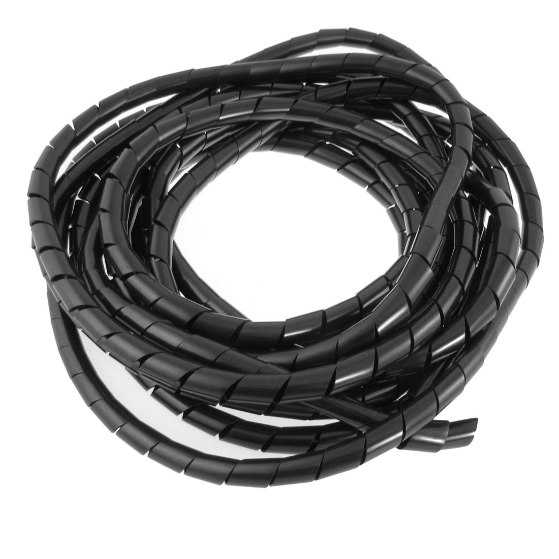 THGS 12mm Outside Dia 22 Ft Flexible Spiral Wire Wrap Desktop PC ...