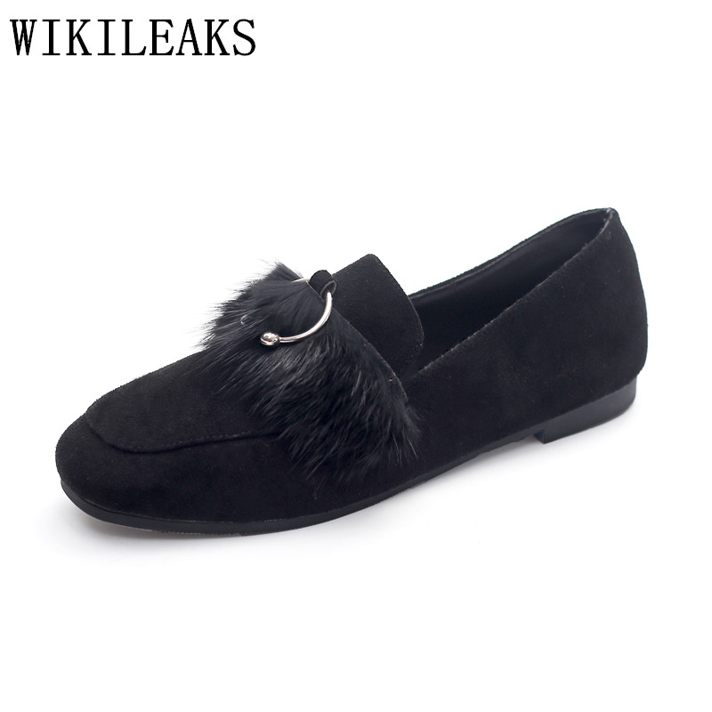 high quality ladies shoes women loafers breathable sapato feminino luxury brand flat shoes women fur casual shoes zapatos mujer new designer women fur flats luxury brand slip on loafers zapatillas mujer casual ladies shoes pointed toe sapato feminino black