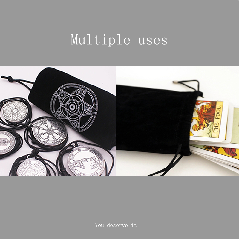 1 PC Special Velvet Tarot Card Storage Bag Six Pointed Star Pattern Beam Pockemeon Cards Dixit Loading Various Board Game Cards in Board Games from Sports Entertainment