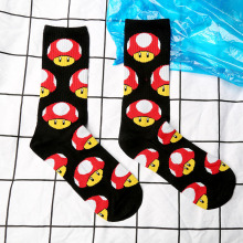 Wholesale socks personality tide brand skateboard hip hop skateboard mushrooms barreled pure cotton socks SOCKS