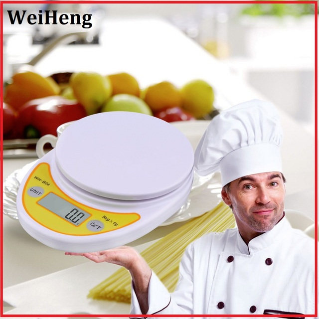WeiHeng 5kg/1g LCD Kitchen Scale bilancia balanza Digital Electronic weight Scale for Food Balance Weighing scales Brand New