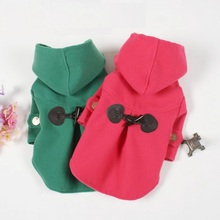 Red /Green Small dog clothes pet Coat Spring Autumn Pet Overcoat Teddy For Puppy