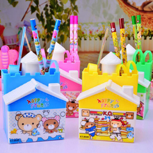 1 pc New cute cartoon Castle drawer set pen holder Child learning stationery storage pen holder Desk Accessories storage box