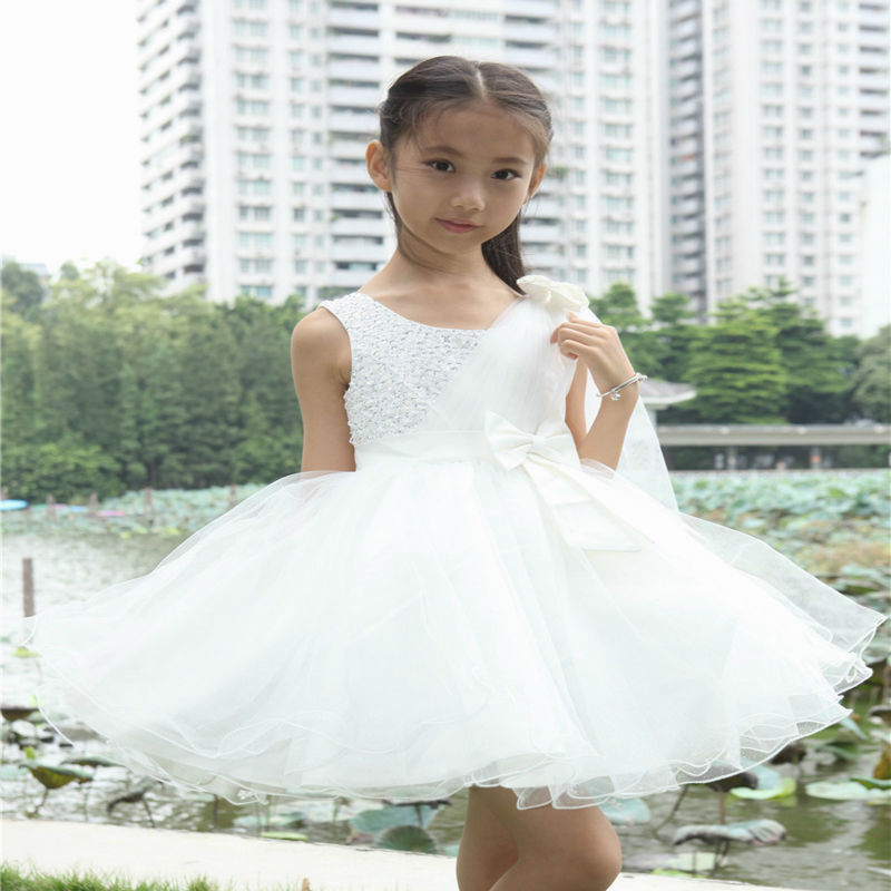 Flower Girl Dress for Wedding and Party Kids Formal Evening Dresses Baby Girls Princess Clothes Children Christmas Costume 2-14Y red new summer flower kids party dresses for weddings formal princess girl evening prom sleeveless girl bow mesh dress clothes