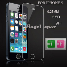 For iphone 5 Tempered Glass for iphone 5 Screen Protector for iphone 5s Glass 9H2.5D 0.26mm Tough Screen Film for iphone 5 Glass