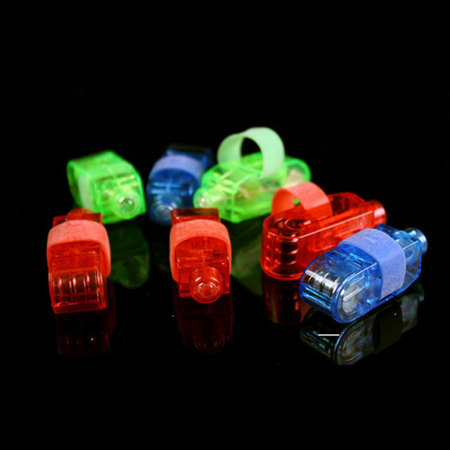 300 pcs/lot 4 colors LED finger light flashing Leaser lamp christmas night lights children's day party toys gifts party props
