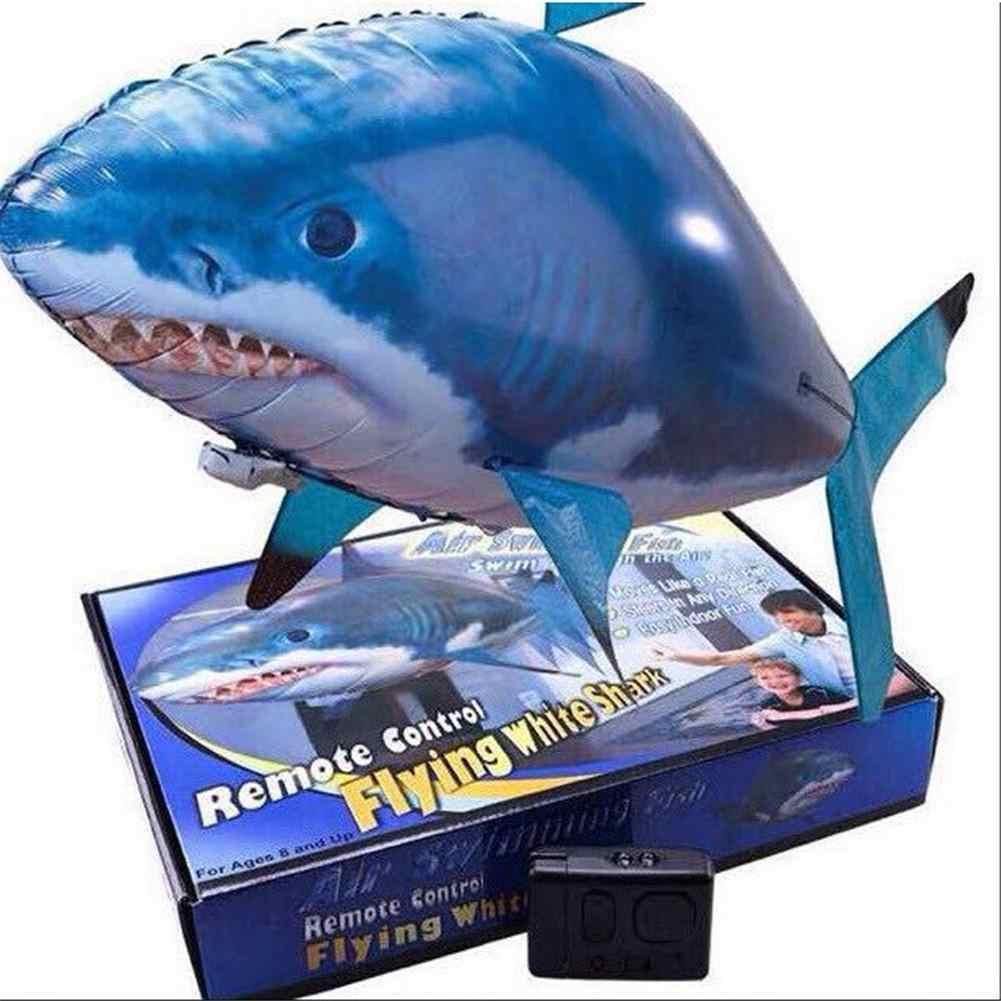 שלט רחוק עף אוויר בלוני כריש צעצועי אוויר שחייה דגים אינפרא אדום RC נמו לטוס ליצן דגי ילדי תחביבים מתנות מפלגה רובוטים