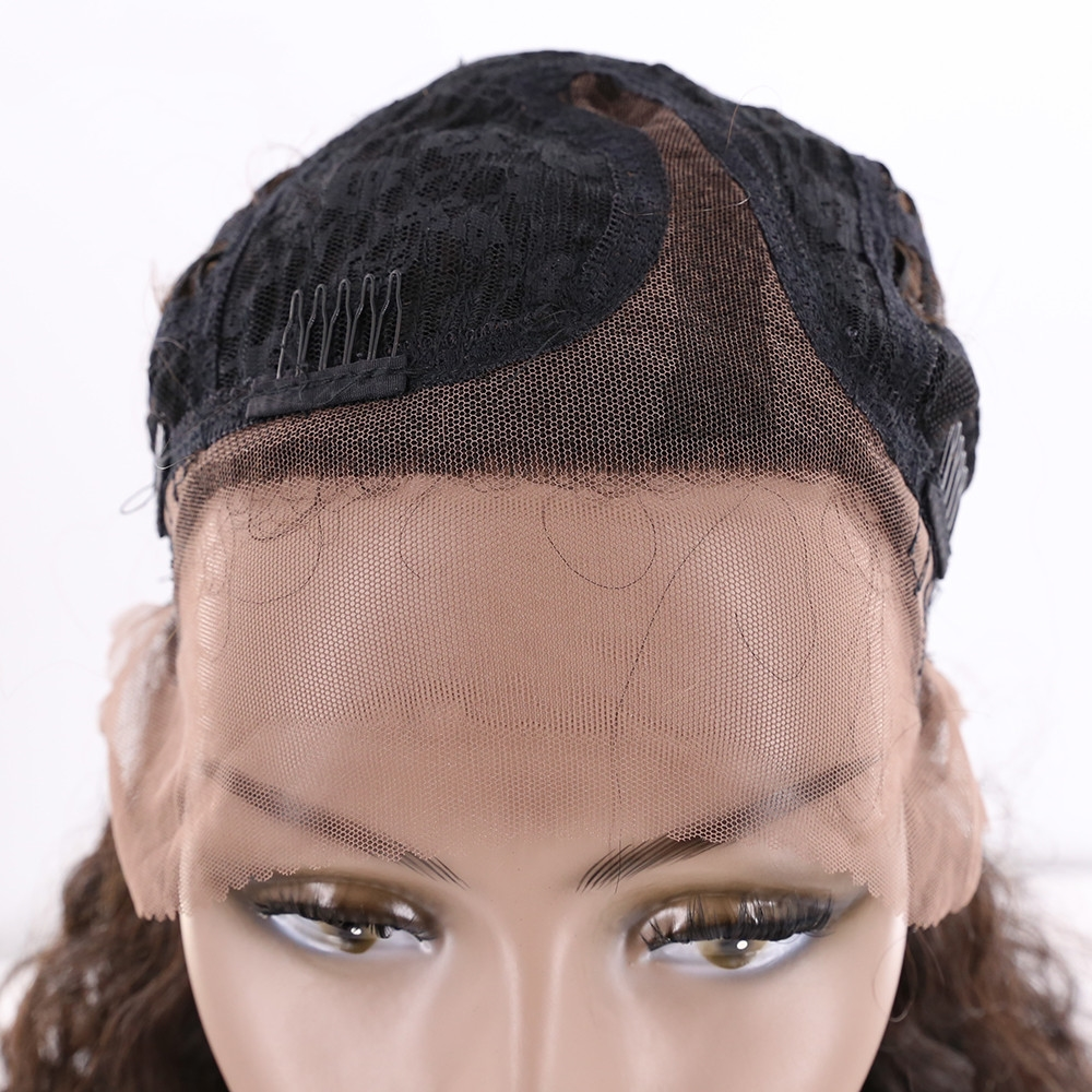 EUPHORIA 18 Afro Kinky Curly Human Hair Lace Frontal Wigs&L Part Lace Natural Color Brazilian Remy Hair Wigs For Women