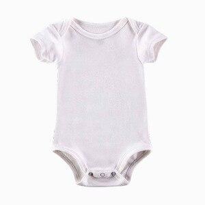 Image 5 - 5 Teile/los Baby Bodys Neugeborene Kleidung Körper Bebe Kurzarm Weiß Sommer Marke Neue Infant Overall Baby Mädchen Jungen Kleidung