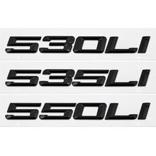 цены Car Tail Sticker Metal Plastic Rear Trunk Emblem Decoration for BMW 523 525 528 530 535 550Li X1 X3 M5 E46 E90 F10 Badge Styling