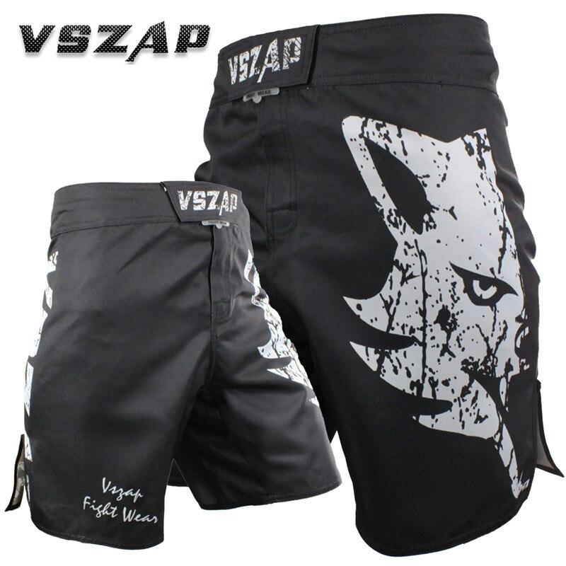 VSZAP 2018 New GIANT Fashion Men Shorts Print Wolf MMA Fighting Venom Comprehensive Fighting Fitness Muay Thai Sanda Brand