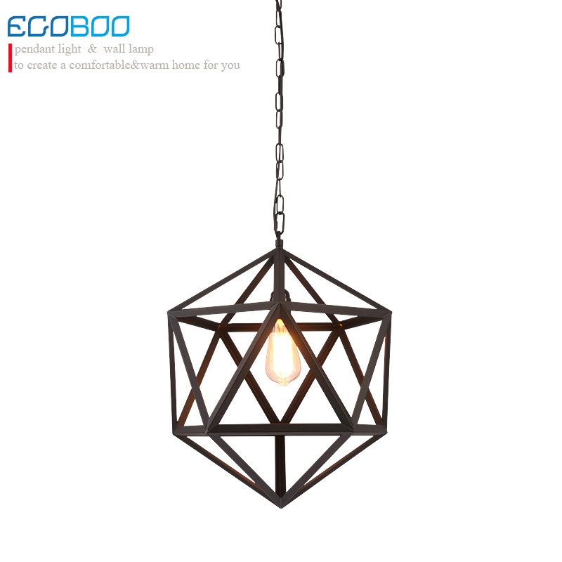 Loft Vintage Industrial Retro Pendant Lamp Edison Light E27 bulb Holder Iron Restaurant Bar Counter Bookstore Cage Lamp loft retro hanging lamp industrial minimalist iron pendant light bar cafe restaurant e27 lamp holder vintage lights wpl028