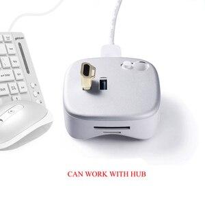 Image 2 - USB صغير قارئ بصمات الايدي وحدة جهاز التعرف على ويندوز 10 مرحبا مفتاح الأمن البيومترية 360 اللمس