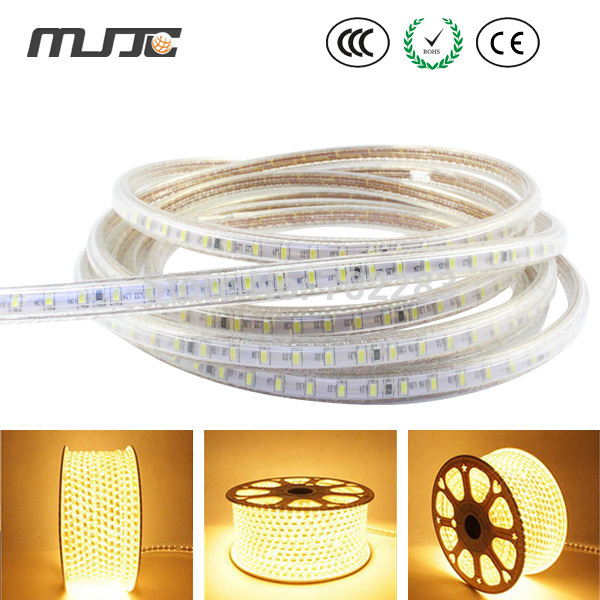 1M-50M 3014 110V HighVoltage 120LED//M Strip Light NWhite DYellow Red Blue White