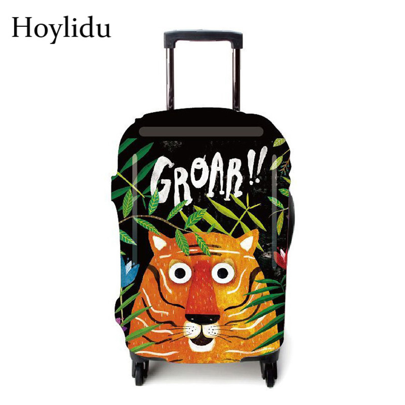 Cartoon Luggage Protective Cover For 23 To 25 Inch Trolley Suitcase Elastic Dust Bags Case Travel Accessories Supplies Gear Item