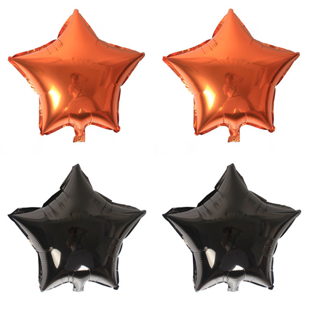 CRLEY 2018 Hot Sale 2pcs Halloween Ballons Five-pointed Star Helium Metallic Love Marriage Air Ballons Wedding Supplies