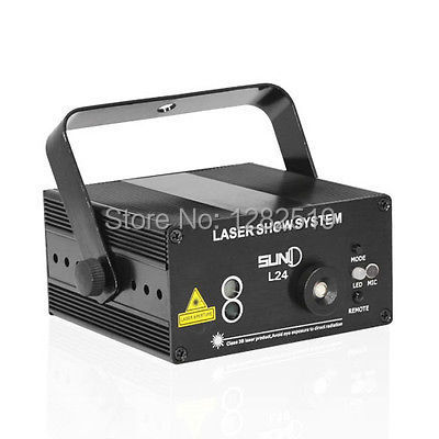 SUNY 3 Lens 24 Patterns DJ show RG Laser BLUE LED Stage Lighting Light Green Red