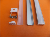 Free Shipping Cost Aluminum Profile With Flat Shaped Opal Matte Diffuser For LED Strip Light Applications