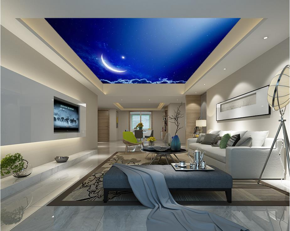 Online get cheap moon wallpaper alibaba for 3d ceiling wallpaper