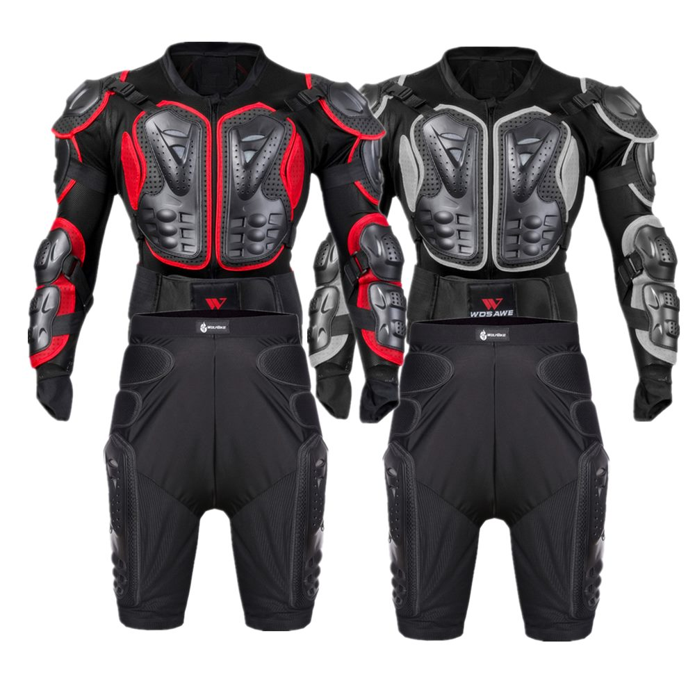 WOSAWE Motorcycle Armor Set Men Chest Back Protection Butt