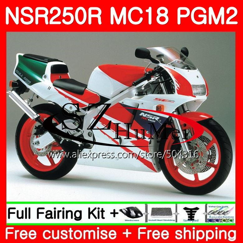 MC18 For HONDA PGM2 NSR250 <font><b>NSR</b></font> <font><b>250</b></font> R NSR250R 88 89 124SH14 MC16 <font><b>NSR</b></font> 250R NS250 RR NSR250RR Stock color 1988 1989 88 89 Fairing image