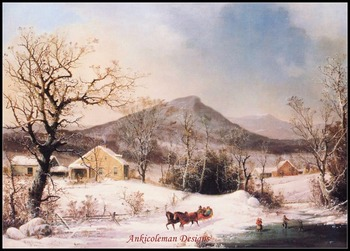 Needlework for embroidery DIY DMC color High Quality - Counted Cross Stitch Kits 14 ct Oil painting - Farmyard in Winter