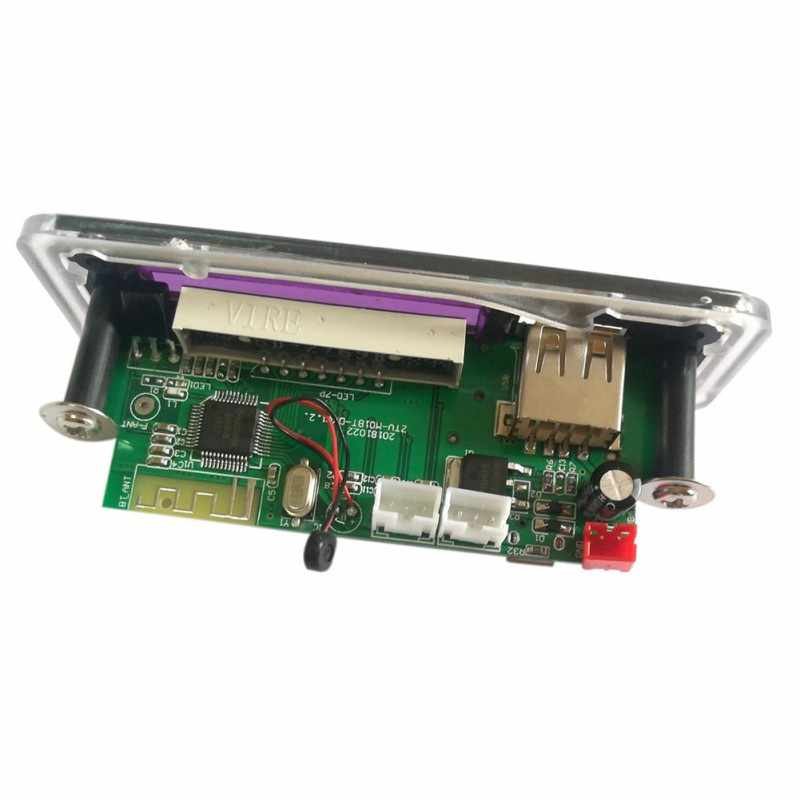 Led usb bluetooth 5.0 áudio lossless ape módulo tf fm rádio suporte power-fora de reprodução de memória sem fio 12 v mp3 wma decodificador placa