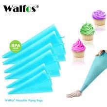 Walfos saco de confeitar reutilizável, saco para confeiteiro, ferramenta para decoração de bolos