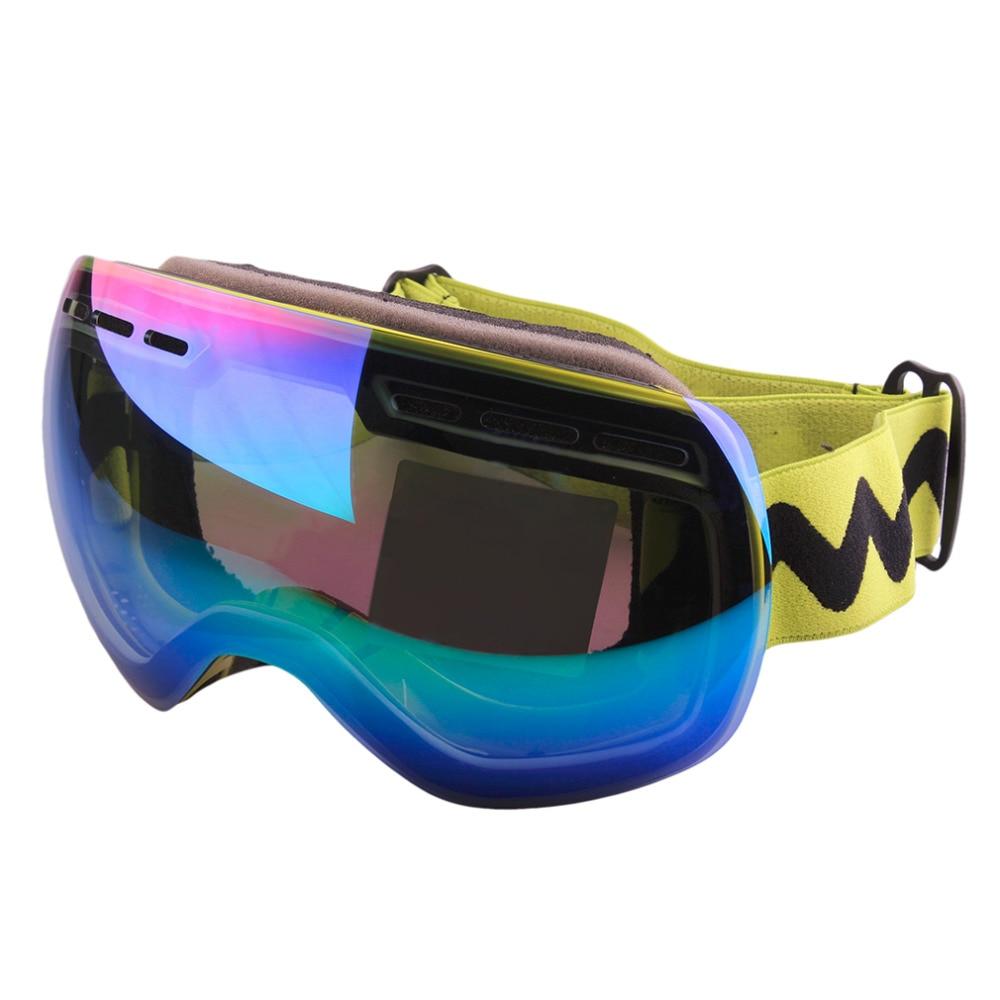 Prix pour Double Couche Grand Sphérique Lunettes De Neige Optique Spectacal Snowboard Lunettes Meilleur Vendeur