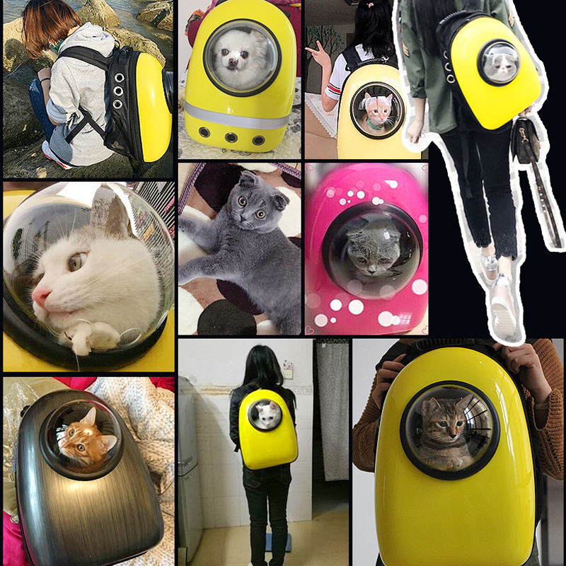 Space Capsule Shaped Pet Carrier Breathable Pet Backpack Pc Pet Dog Outside Travel Bag Portable Bag Cat Bags #4