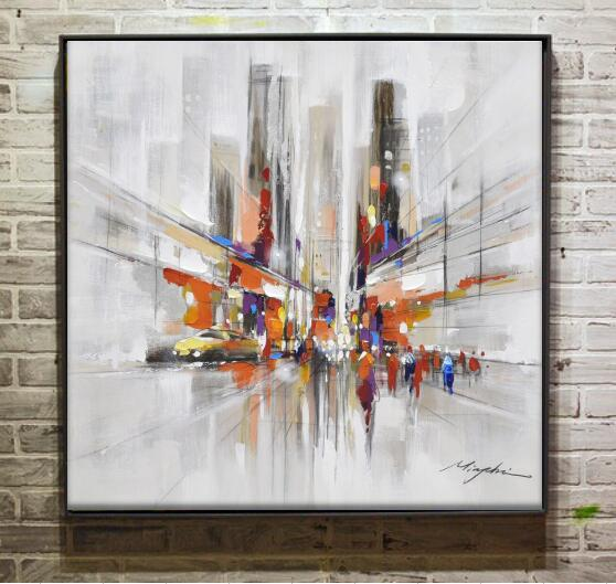 High Lights Of New York Skyline Canvas Wall Art: New York Skyline Cityscape Architecture Abstract Wall Art