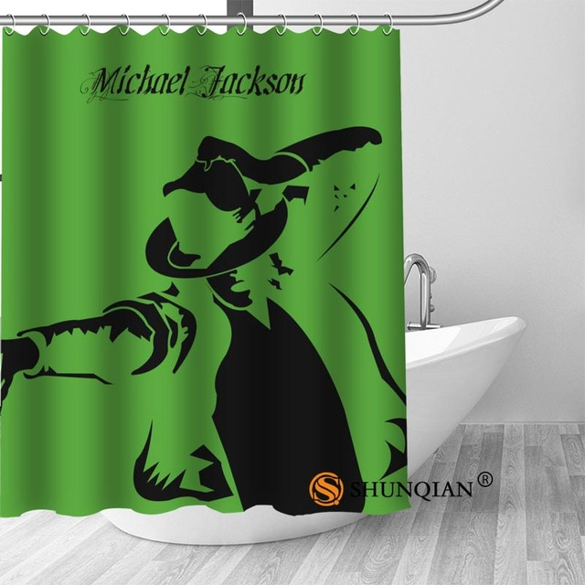 23 Michael jackson shower curtain washable thickened 5c64f7a44eda9