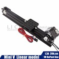 Openbuilds 17hs3401 NEMA17 шаговый двигатель мини V-образными пазами линейной actuatorLinear модель для маршрутизатор комплект Reprap 3D принтер Запасные части