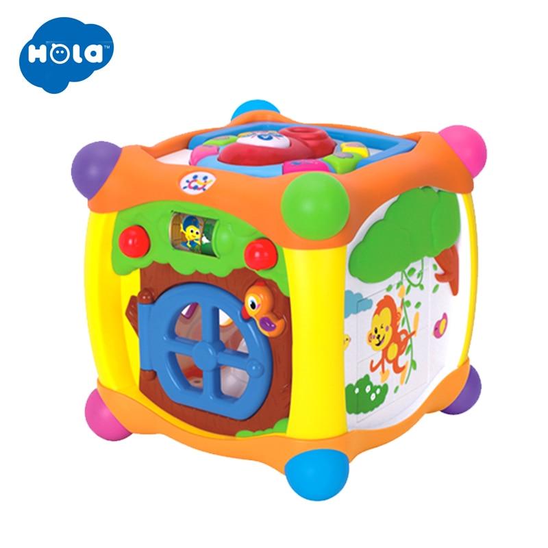 Enfants apprenant des jouets éducatifs magique parlant activité Cube Box Play Center avec des lumières, de la musique et plus de fonctions bébé jouets 18 m + - 6