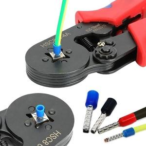 Image 2 - Juego de alicates de engaste GTBL 0,25 10 mm2 herramienta de engaste de alambre de Ratchat autoajustable con conector de engarce de Terminal de cable 1200 aislado