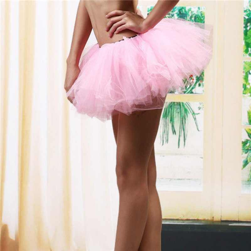 נשים \ של ריקוד שמלת קלאסי קצר לנשף שמלת עד 5 שכבות טוטו חצאית טול תחתונית בלט רוקד בועה חצאיות