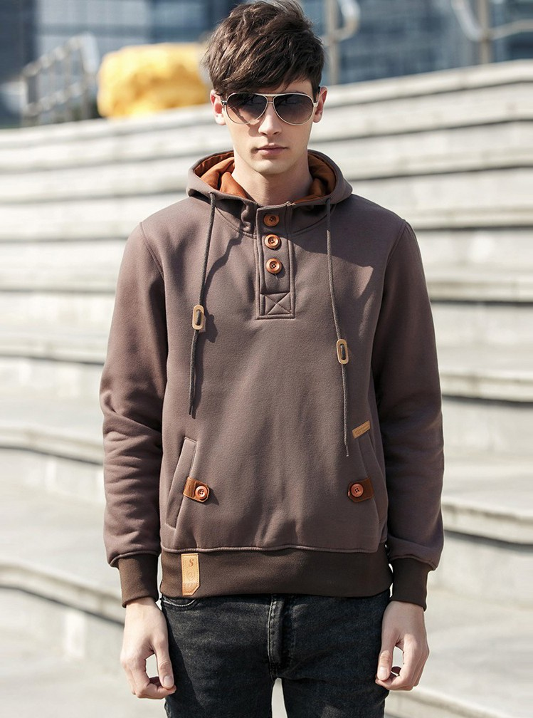 JeeToo Men Hoodies 17 Casual Hoodies Men Fleece Fashion Hip Hop Warm Hoody Polo Mens Hoody Jacket Sweatshirt Mens Sweat Homme 12