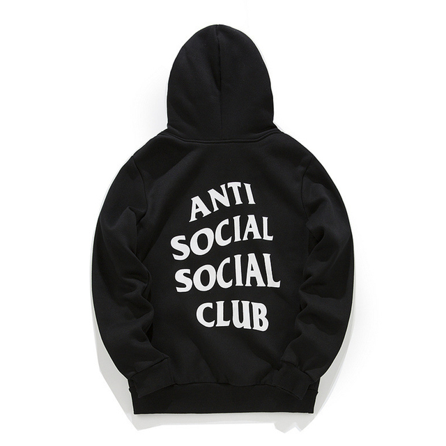 ANTI SOCIAL CLUB hoodie hip hop winter Kanye West Fleece Hoodies Men Sweatshirt assassins creed Bape Anti Social Social Club
