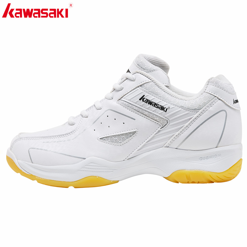 2019 New Original Kawasaki White Badminton Shoes Professional Sports Shoes For Men Breathable Indoor Court Sneakers K-077