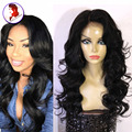 8A Grade Full Lace Human Hair Wigs Body Wave Lace Front Wig With Baby Hair For Black Woman Peruvian Virgin Hair Wig