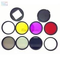 52mm UV CPL FLD Red Yellow Star8 ND2 ND8 Filter + Adapter + 52 mm Lens Cap Kit for Gopro Hero5 Black Gopro5 Hero 5