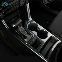 Carbon Fiber Car Water Cup Holder Decorative Frame Covers Coffee Bottle Placement For Kia Sportage QL KX5 2016 2018 Accessories