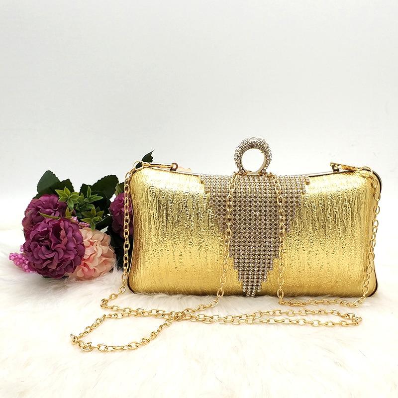 argento 4 Delle Borse grigio Solido 3 Borsa 2 rosa champagne Sacchetto oro Nero Shinning 1 Di 5 Del Partito Donne Sera wH7E4