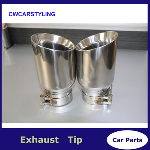Newest Style stainless steel universal exhaust system end pipe+car exhaust tip 1 piece(China)