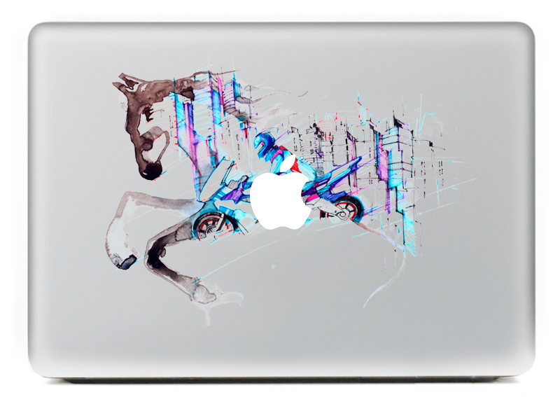 The Run horse DIY Personality Vinyl Decal Laptop Sticker ...