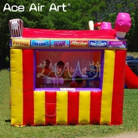 Beautiful inflatable carnival treat shop,kiosk bar/vendor space,cold drick stall with foldable curtain for Events