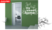 Decorate sweet home letter art wall sticker decoration Decals mural painting Removable Decor Wallpaper LF-1953