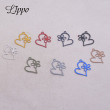 100pcs AC9285 16*18mm Hearts and Star Charms Small Heart Pendants Diy Jewelry Components cheap Fashion Copper Ethnic Metal LIPPO round Fashion charms jewelry findings brass earrings High Quality Accept