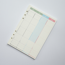 A5/A6 Spiral Notebook Refills Filler Paper For Filofax Weekly Planner Inserts Inner Pages Binder Book Paper Stationery все цены