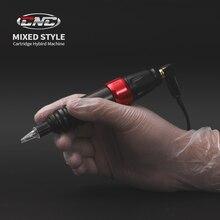 STIGMA CNC máquina de tatuaje profesional híbrida máquina de tatuaje rotativa con conector RCA de alta calidad, Motor japonés FK, hierros Drive P2